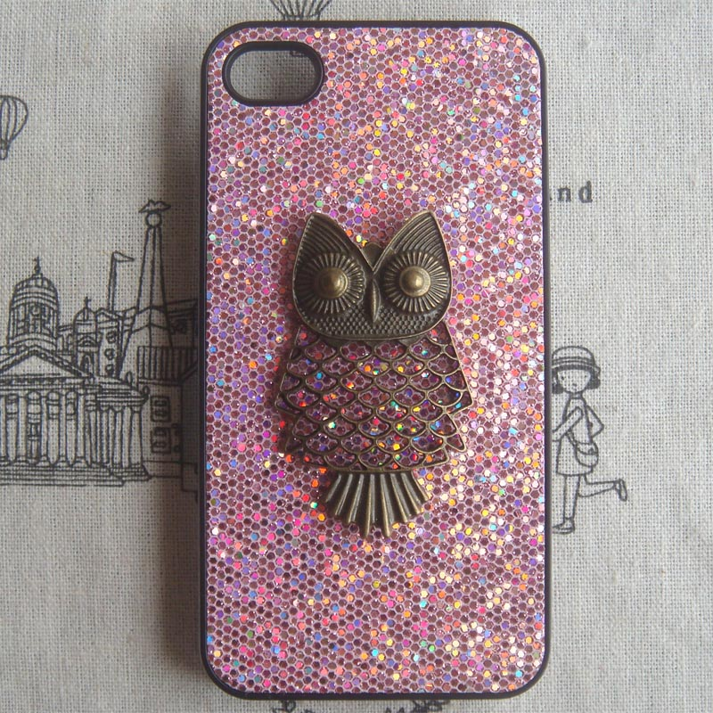 best sneakers 74ebd 2dad4 SALE - Steampunk Owl Bling Glitter Hard Case For Apple IPhone 4 Case IPhone  4s Case Cover